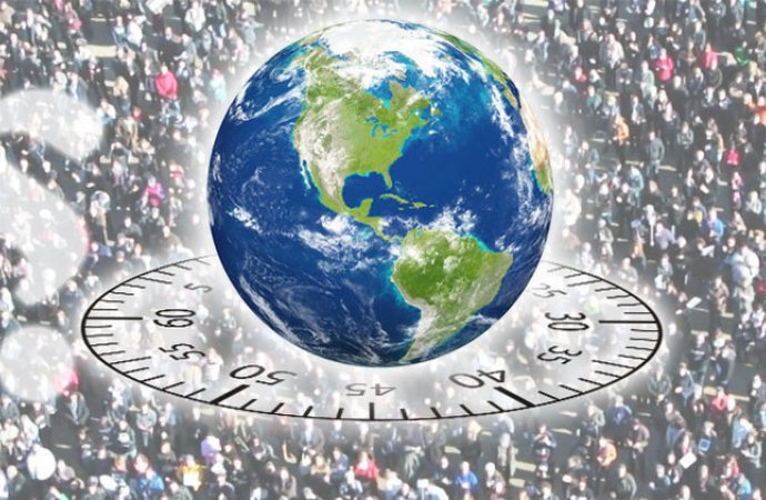 كيف يتغير التعداد السكاني للكوكب خلال دقيقة واحدة