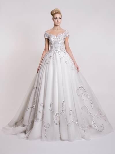 فستان زفاف من  دار سارة (3).