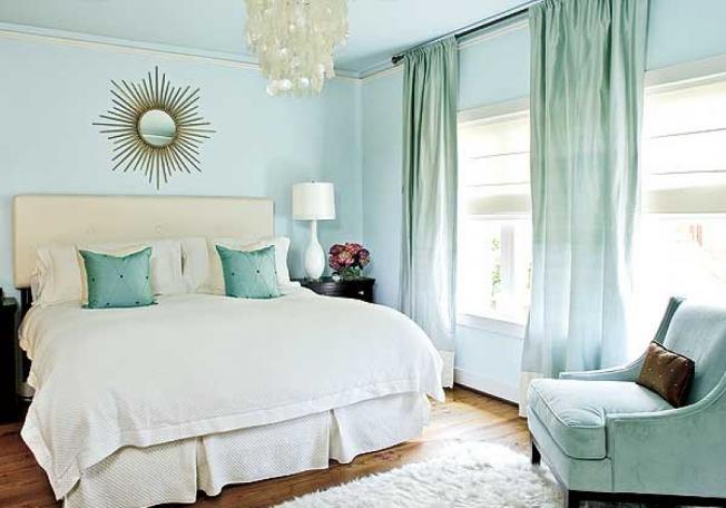 غرف نوم بالوان هادئة
