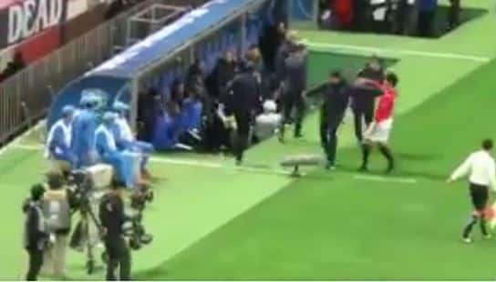 شاهد مالم يظهر في النقل التلفزيوني من مباراة أوراوا لمشادات إحتياط الهلال مع جامعي الكور